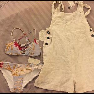 L*Space NWT bikini set AND romper (3pc SET)